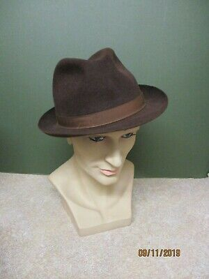 Mans Vintage Brown Trilby Dunn & Co  Hat