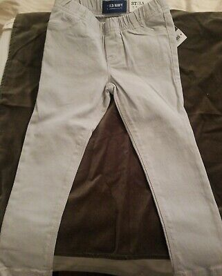 NWT Old Navy Skinny Pull-On Jeggings Soft Twill Pants Toddler Girls 4T 5T