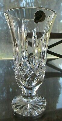 Waterford Crystal, Lismore 7 1/4 inch Footed Vase, Excellent Condition