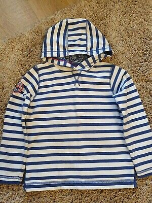 Girls FatFace Striped Hoodie, age 6-7 years