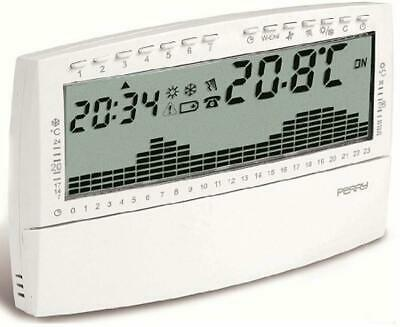 """Perry Electric 1CR CR018B Up&Down """"Compact"""" Cronotermostato digitale settimanale"""