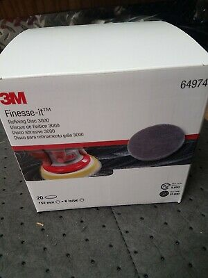 "3M 64974 6"" Finesse-It Refining Disc 3000 Box 20"
