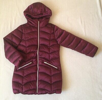 ***Next girls Berry long puffer jacket 9 years WORN ONCE***