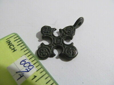 Ancient bronze cross Kievan Rus Vikings 11-13 AD № 609/4
