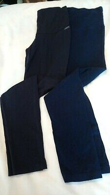 Navy maternity leggings, over bump, size 14 - M/L , Navy - x 2 pairs