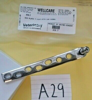 Dcs Plate 7 Hole With Lag Screw Orthopedic, Veterinary Instruments Ce