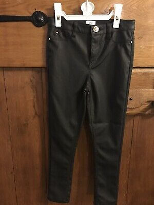 BNWT River Island Faux Leather Trousers Size 8 Yrs