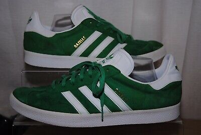 Adidas Gazelle Mens Green & White Trainers Uk Size 12