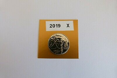 "a-z 10p Coin. Letter ""X"" 2019. Uncirculated. From sealed bag. X marks the spot!"