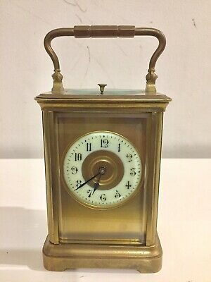 Antique French Repeater Gong Striking Carriage Clock.