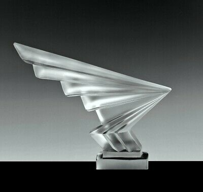 Art Deco Glass Car Mascot ' Flesh ' Hood Ornament Sculpture