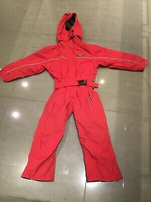 Kids Red Tog24 Milatex Snowsuit All In One Ski Suit Age 5-6 Technical Boardwear