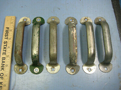 "Vintage Barn Door Pull Handles, 6 Identical 6"", Old Industrial, Farmhouse Style"