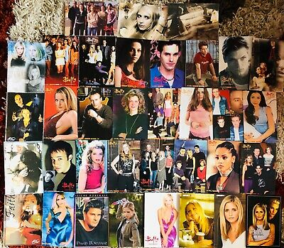Buffy the Vampire Slayer - Lot of 35 French Magazine Photo Cards - Rare
