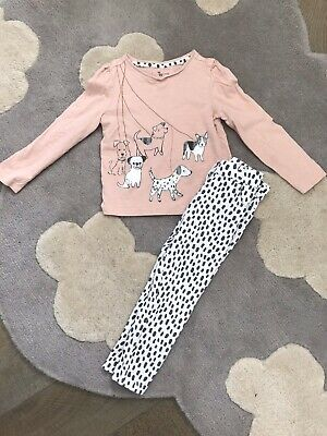 Tu Dalmation Dogs Girls Outfit Top And Leggings Set Age 2-3 Years