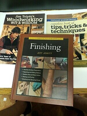 Woodworking book lot 3 great books on Finishinh tip,tricks and techniques.