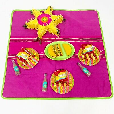 American Girl 2010 Fiesta Picnic Set Pretend Tacos For Doll Only