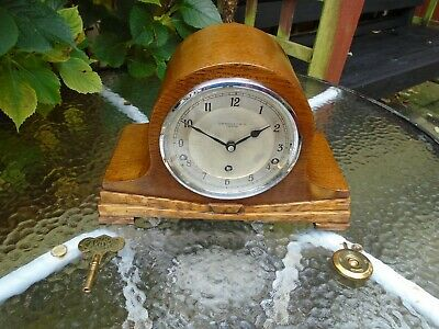 English Garrard Quality Fully Restored Westminster Chime Mantle Clock