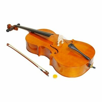 Professional 4/4 Natural color Acoustic Basswood Cello Case Bow Rosin Adults US