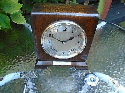 Garrard  Fully Restored Early Petite Rare Pendulum Strike Oak Mantle Clock
