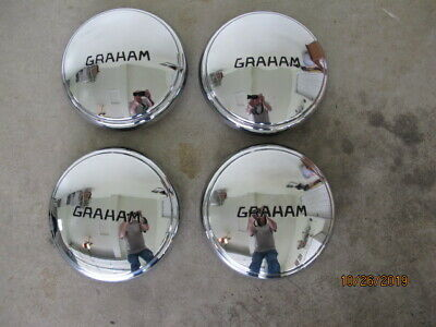 1934 1935 Graham NOS Hubcaps Set (4) Very Rare Find !!!!!
