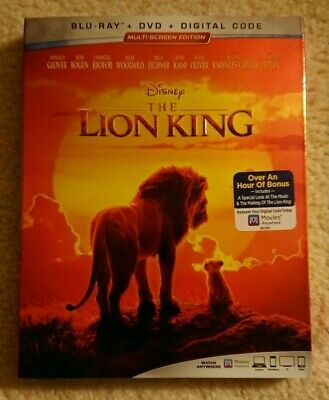 The Lion King, 2019 - Live Action (Blu-Ray + DVD + Digital Code) Brand New