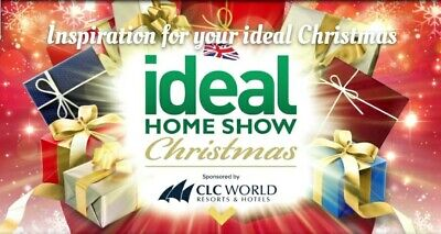 2 x Tickets 🎄Ideal Home Christmas Show, Olympia London Wednesday 20th November