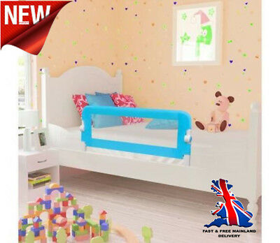 Baby Cot Bed Rail Safety Guard Protection Portable Secure Toddler Kids Safe Blue