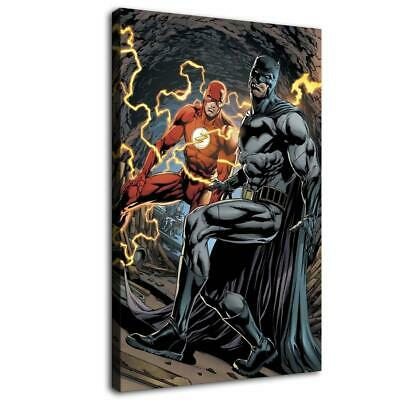 "12""x20""Batman Flash HD Canvas prints Painting Home Decor Picture Room Wall art"