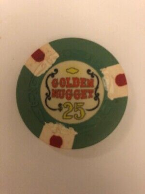 Golden Nugget $25 Las Vegas Casino Chip
