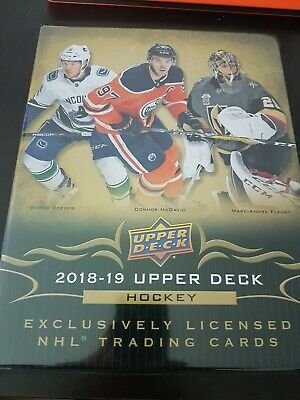 2018-19 Upper Deck HOCKEY CARDS NHL Series 1 Base W/ Binder NO YG FREE SHIPPING