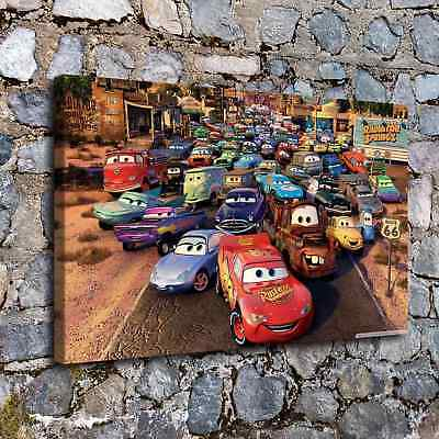 """16""""x26""""Cars 2 McQueen Posters HD Canvas Prints Home Room Decor Wall art picture"""