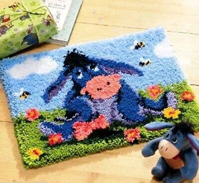 Eeyore latch hook kit with printed canvas 38 cm x 52 cm