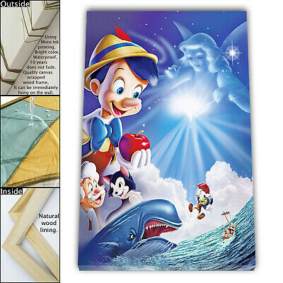 "16""x24""Disney HD Canvas print Framed Home Decor Picture Room Wall art Poster"