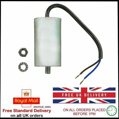 UNIVERSAL START RUN CAPACITOR mfd 10uf WITH 20cm OF CABLE CONNECTOR 450VAC