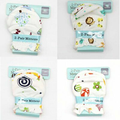 NEW newborn baby infant anti-scratch cotton mittens gloves handguard Cute