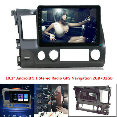 """For 2006-2011 Honda Civic 10.1"""" Android 9.1 Stereo Radio Car MP5 Player 2GB+32GB"""