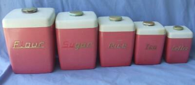 Vintage Nally Ware Canister Set x 5 (CAN POST)