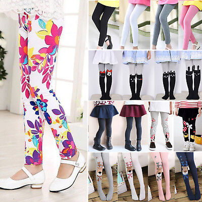Kinder Mädchen Warmer Leggings Strumpfhose Baumwolle Thermo Leggins Fleece Hosen