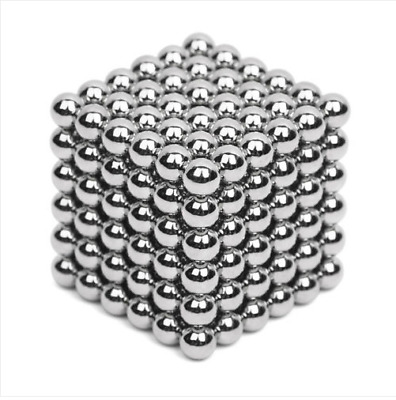 216Pcs 3MM Silver Mini Magic Magnets Ball Neodymium Sphere Puzzle Cube  fe