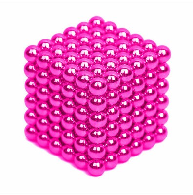 216Pcs 3MM PINK Mini Magic Magnets Ball Neodymium Sphere Puzzle Cube  586