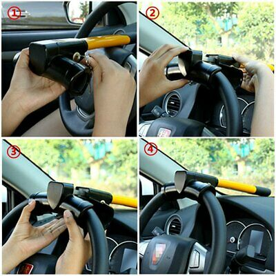 Universal Safety Security Lock Anti-Theft Car Steering Wheel Lock Retractable