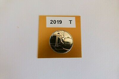 """a-z 10p Coin. Letter """"T"""" 2019 Uncirculated. From Sealed Bag. Tea Pot."""