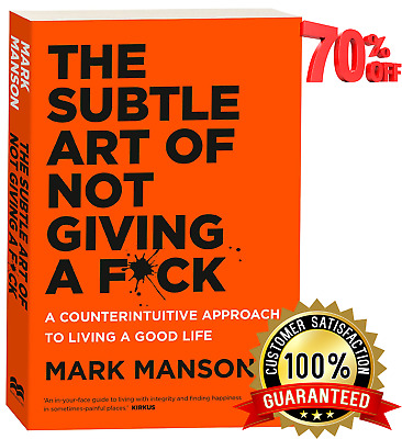 The Subtle Art of Not Giving a F**k by Mark P.D.F By EmaiL Instant Delivery(10s)