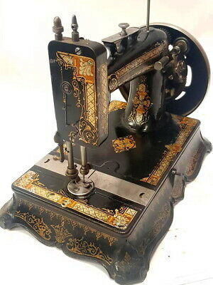 antigua maquina de coser NEW VICTORIA de 1906 UK  FUNCIONA rare SEWING MACHINE