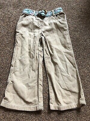 George light brown corduroy floral green belt jeans trousers girls 2-3 years