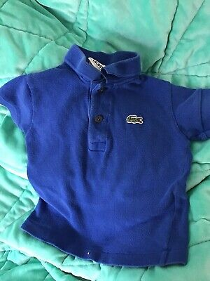 Lacoste Baby Boy Polo Top Size 1 Blue