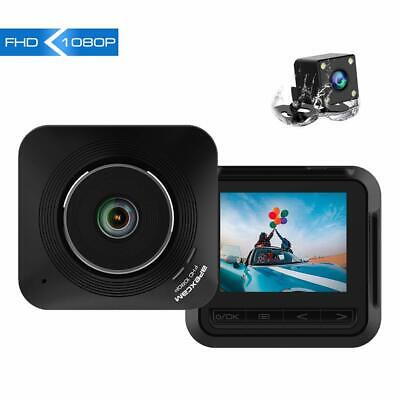 """Apexcam Dashcam Front and Rear Lens Driving Recorder 2.2"""" IPS 1080P Ultra HD 170"""