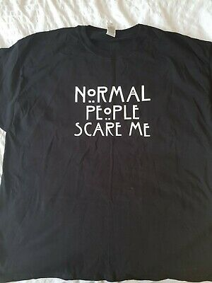 Normal People Scare Me T-Shirt American Horror Story - New, XL