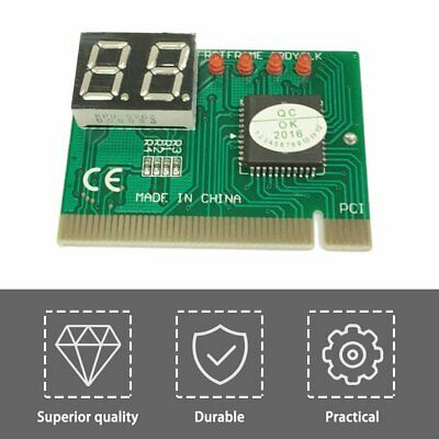 PCI PC Diagnostic 2-Digit Card Motherboard Post Tester Analyzer Checker QX